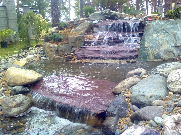 Пластиковый пруд садовый для дачи купить в Продаже большой