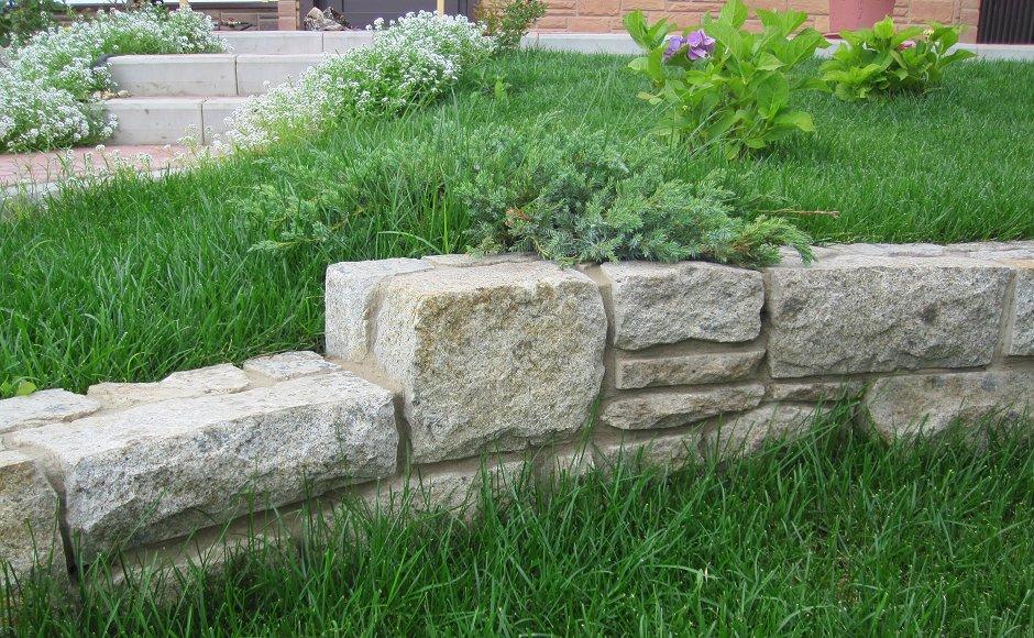 Как построить подпорную стенку из бутового камня